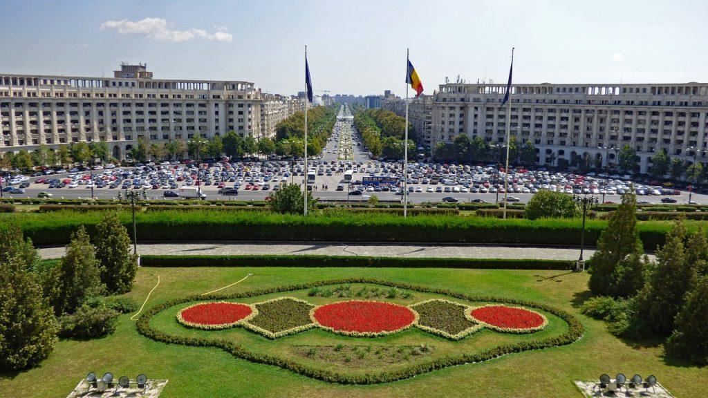 Bucarest et le parlement